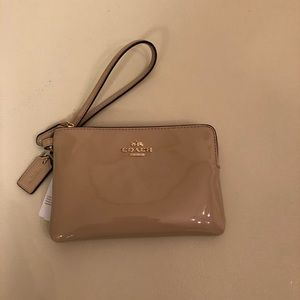 Coach Patent Leather Wristlet-NWT